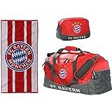 Sport-Set FC Bayern München Sporttasche mit Kulturbeutel und Handtuch 50 x 100 cm