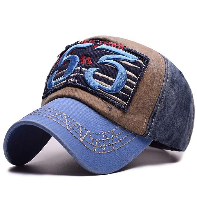 7ac2ba266c3 Image Unavailable. Image not available for. Color  2019 New Men Cotton Baseball  Caps Women Washed Denim Patch 53 Embroidery Cap Hip Hop Casquette
