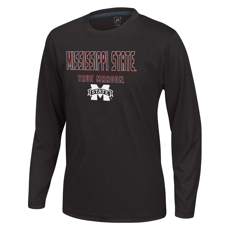 J America NCAA Mississippi State Bulldogs Boys Youth School Slogan Long Sleeve Callout Poly Tee Black Medium