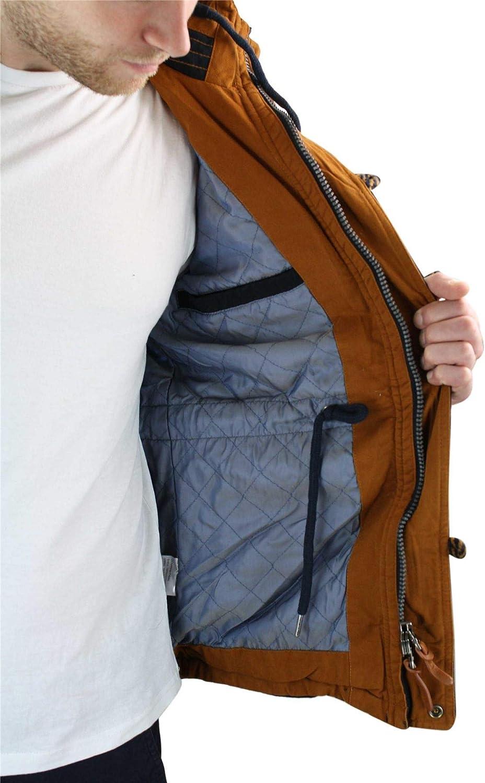 Dostilas Winter Jacket Fishtail Warm Coat Mens Hooded Parker Parka