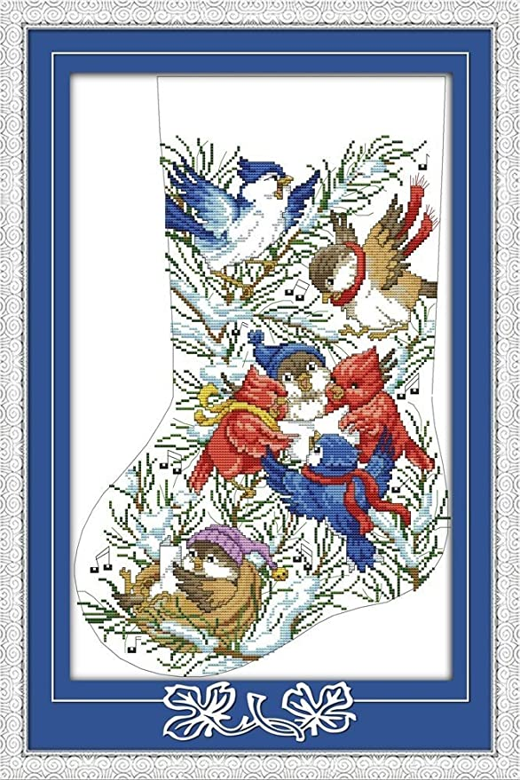 Stamped CaptainCrafts Hot New Releases DIY Art Cross Stitch Kits Needlecrafts Patterns Counted Embroidery Kit The Love of Flamingo