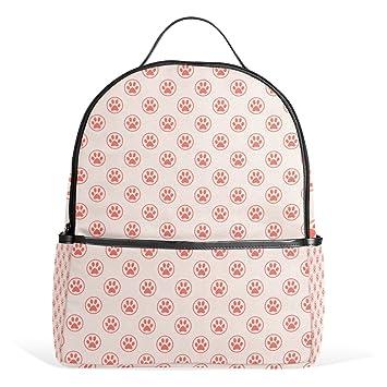 sunlome lindo gato perro huellas patrón de huellas dactilares portátil mochila Casual hombro Daypack para estudiantes
