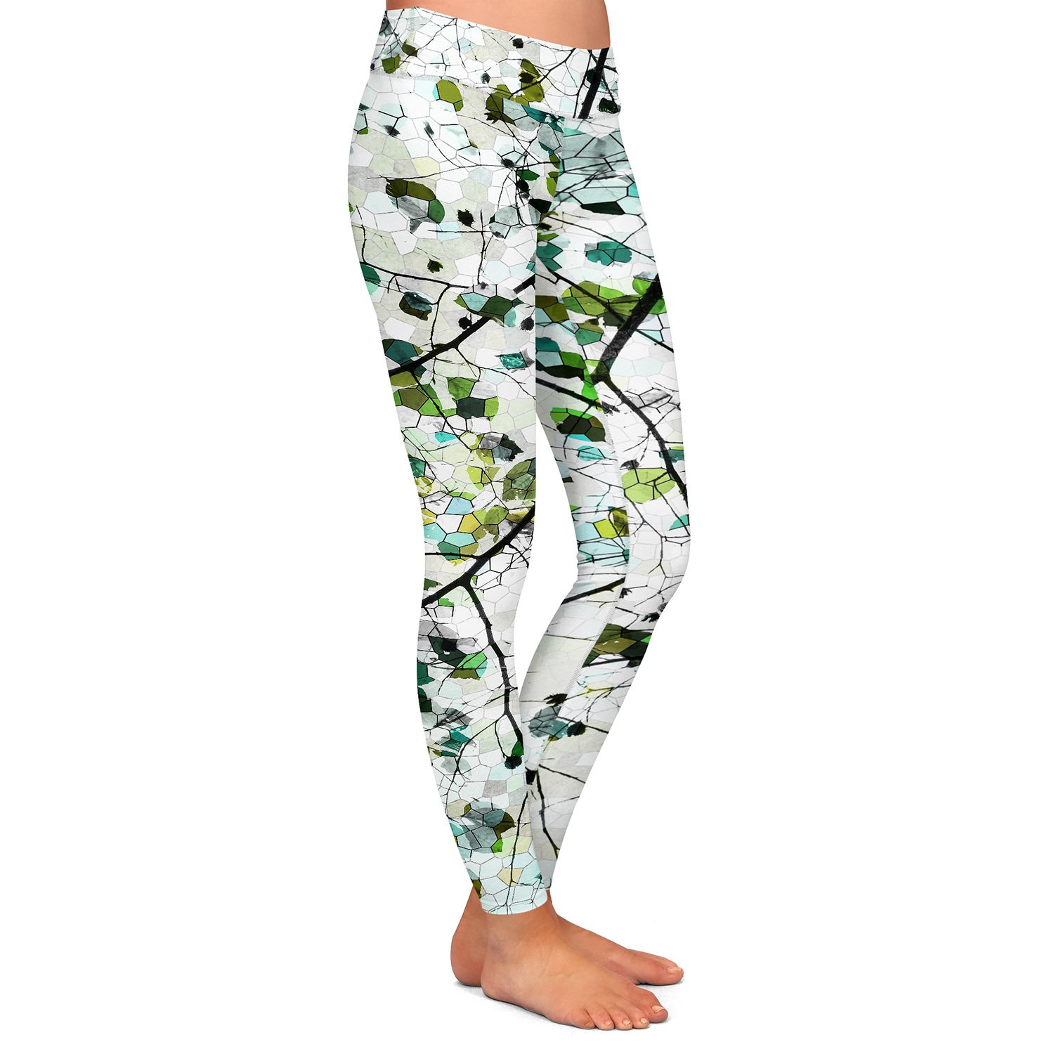 Green Veil Athletic Yoga Leggings from DiaNoche Designs by Iris Lehnhardt
