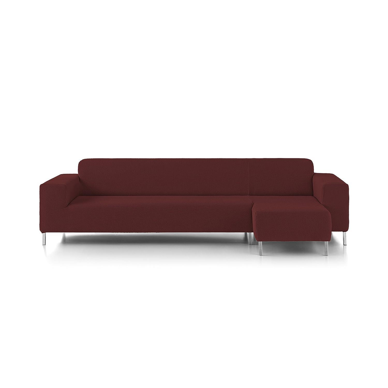 Eiffel Textile Nimes Chaise Longue - Designer Sofa Cover Short Right Arm 240 x 195 x 2 cm Black Brands Products FS0239