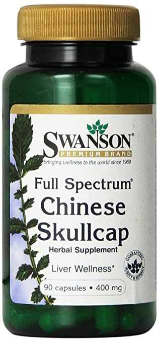 Swanson Full-Spectrum Chinese Skullcap 400 mg 90 Caps