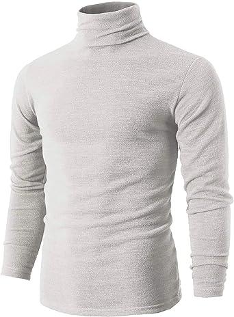 Camiseta térmica de cuello redondo de manga larga para hombre, de ...