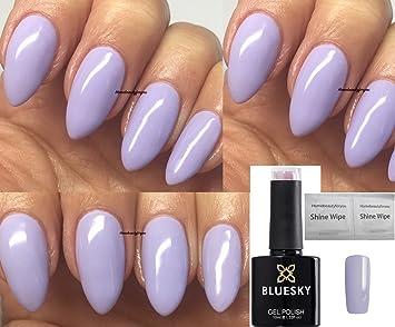 Vernis à Ongles Gel UV LED   Dissoluble   Par Bluesky   Couleur Mauve Clair  /