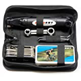 Kitbest Bike Repair Tool Kit. Bicycle Tire Pump, Tire Puncture Repair Kit, Bike Multi Tool Set, Glueless Tire Patches…