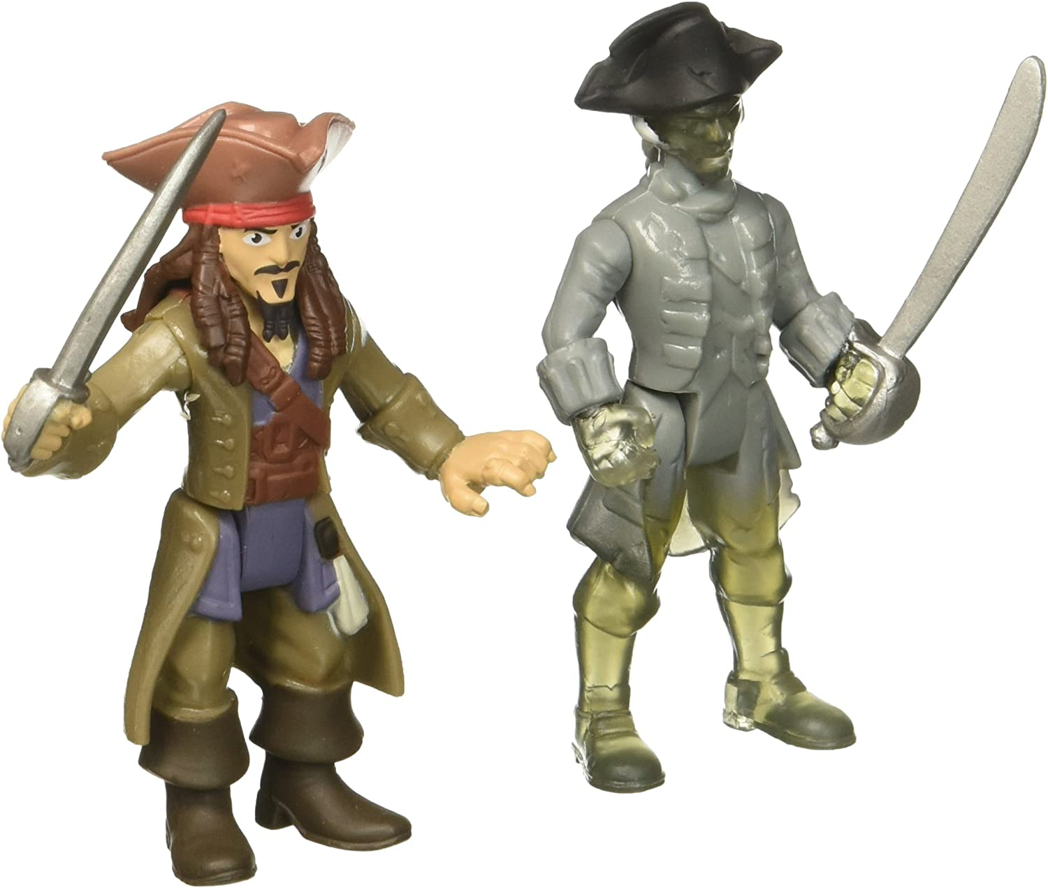 Pirates of the Caribbean: Dead Men Tell No Tales - Jack Sparrow vs. Ghost Crewman - Action Figure 2-Pack