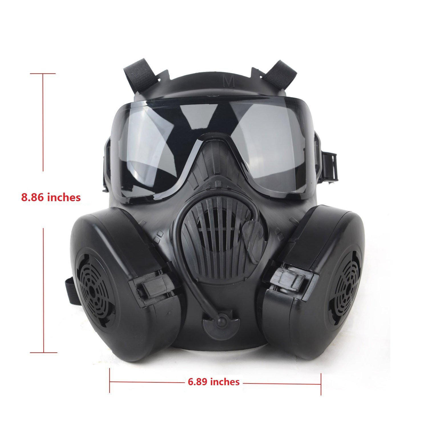 Fancymall-Mask M50 Masque de paintball Style masque à gaz noir Noir 22.5*17.5cm: Amazon.es: Deportes y aire libre