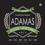 Adamas OV1919E Medium (.013-.056 ga) Phosphor Bronze Acoustic Guitar Strings