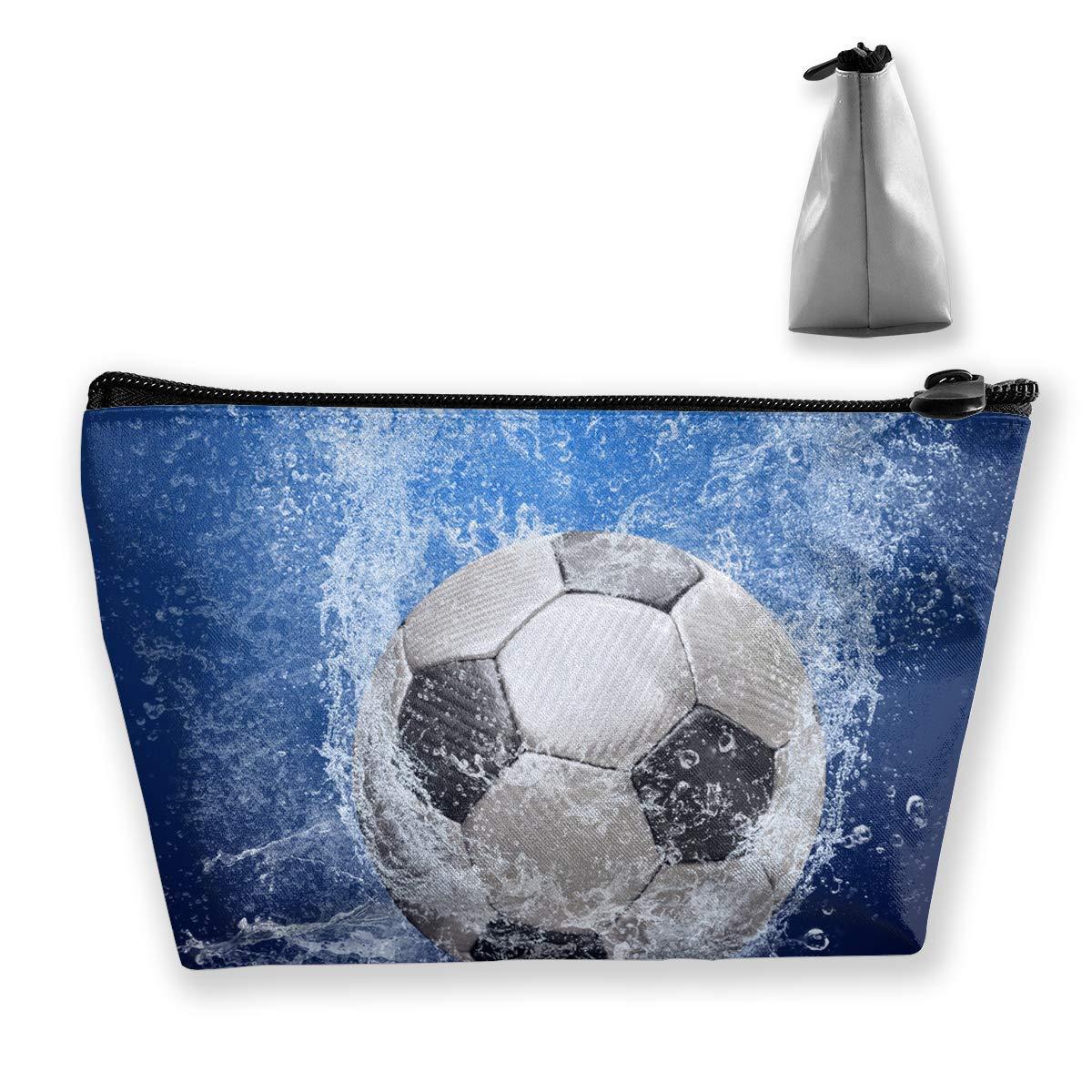 Bolso cosmético para Mujer Balón de fútbol Gotas de Agua ...