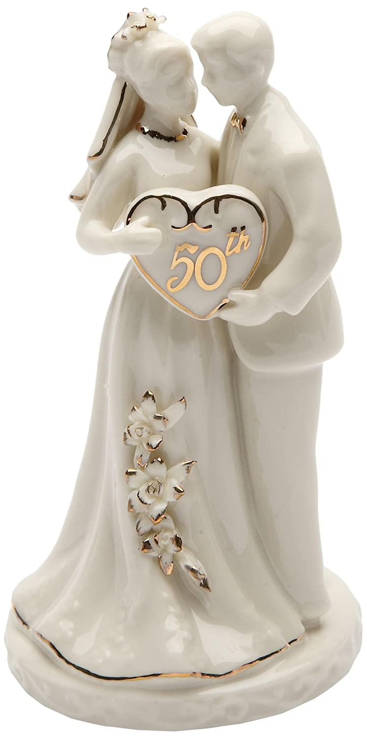 Amazon Cosmos Gifts 30715 Ceramic 50th Anniversary Couple Figurine 4 3 Inch Home Kitchen