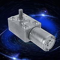 Motor de engranajes, motor de reducción con engranaje de tornillo sin fin turbo turbocompresor de turbina de alto par motor de 12V DC 2-100 rpm