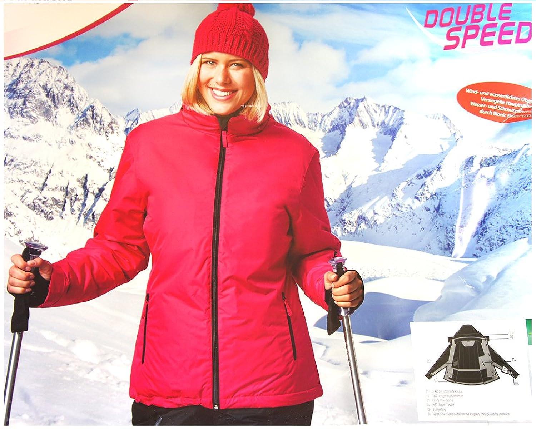 wind und wasserdichte Damen Ski Jacke / Snowboard Jacke von Double Speed - Größe M 40/42 - pink