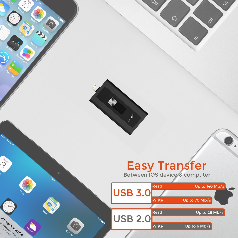 Amazon IPhone Flash Drive 64GB With Micro SD Card Slot
