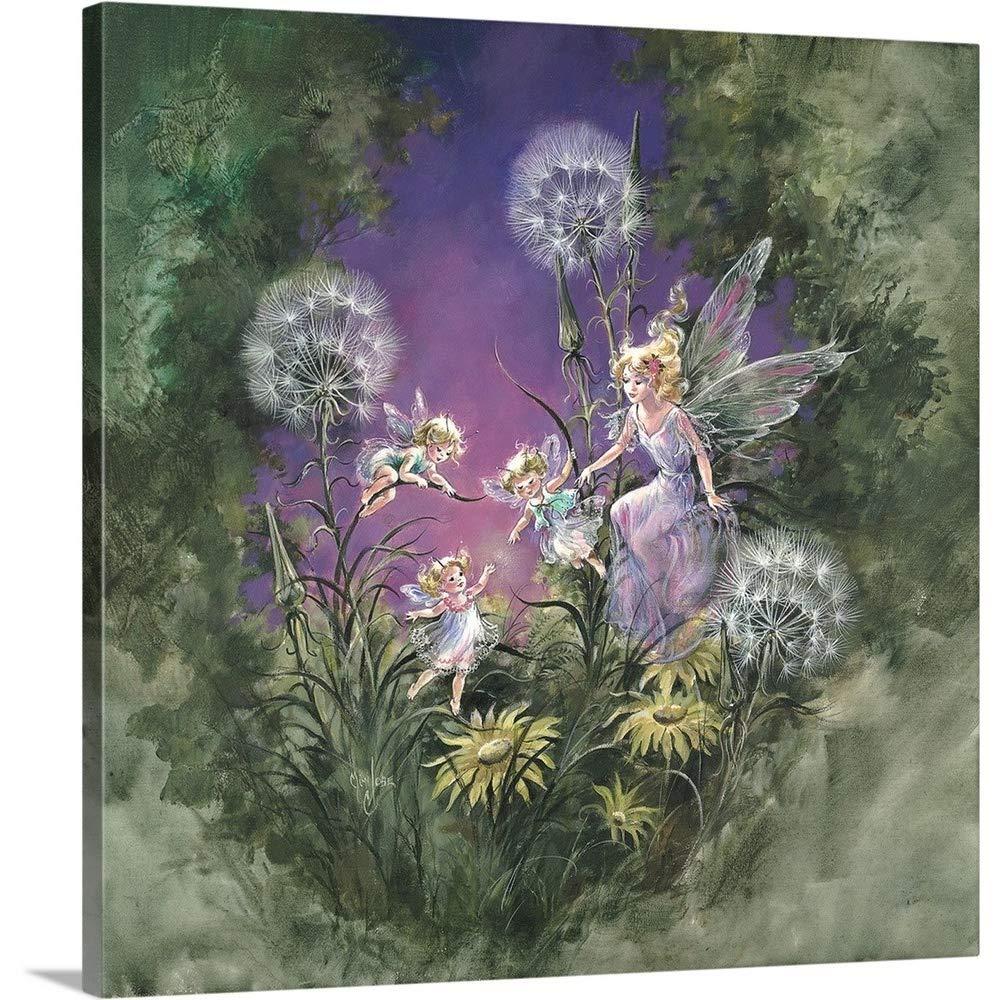 Mimi Jobeプレミアムシックラップキャンバス壁アート印刷題名Fairy Magic II 36