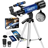 Emarth Telescope, 70mm/360mm Astronomical Refracter Telescope with Tripod & Finder Scope, Portable Telescope for Kids Beginne