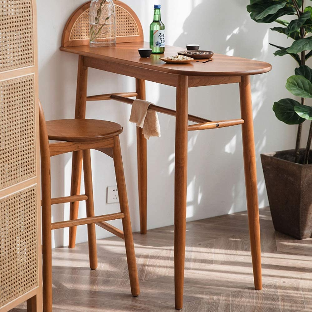 Zacheril Bar Table Kitchen Dining Table Bar Table Coffee Table For A Kitchen Breakfast Nooks Restaurants Lounges Or Pubs Stool Not Included Kitchen Bar Counter Table Bistro Table Breakfast D Amazon Co Uk Kitchen