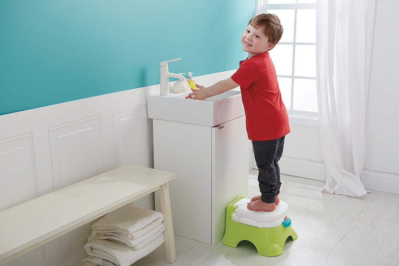 MultiWare 2 In 1 Lernt/öpfchen Fisher Rosa Price Toilettentrainer F/ür Kinder T/öpfchen Mit Musik und Fu/ßbank