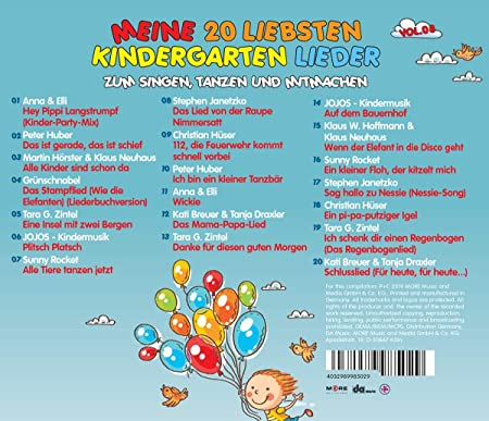 Meine 20 Liebsten Kindergarten Lieder Vol8 Various
