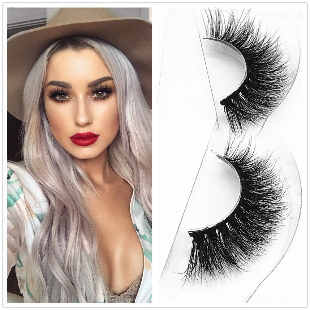 a10a834bc6e Amazon.com : D115 Thick Mink 3D Strip Lashes 100% Siberian Fur Fake  Eyelashes Hand-made Hair False Eyelash 1 Pair Package Miss Kiss : Beauty