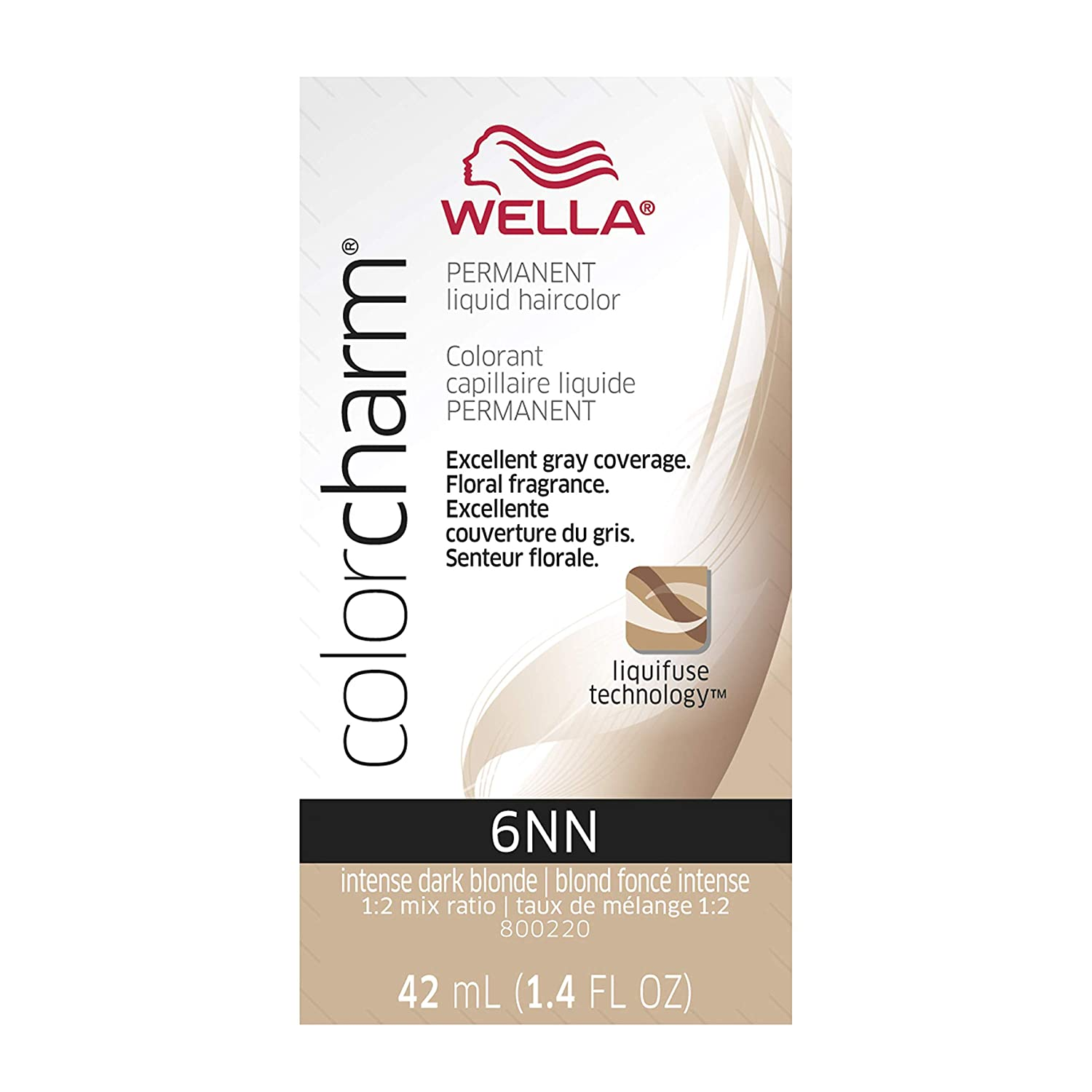 Wella Charm Liquid Permanent Hair Color, 445/5rg Light Auburn