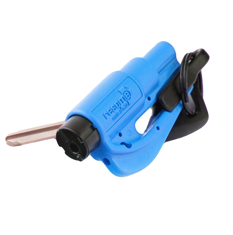 RESQ ME 98730 Outil de Sécurité en Porte-Clés 2-en-1, Bleu
