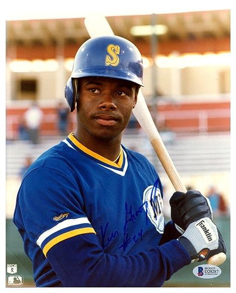 6fb1eac27c Ken Griffey Jr. Autographed Signed 8x10 Photo Seattle Mariners #24 Vintage  Rookie Era Signature