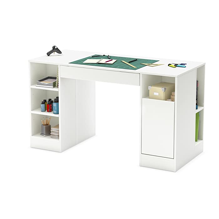 Best Cutting Table with Storage: South Shore 7550727 Crea Craft Table
