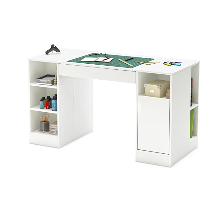 Lovely South Shore Crea Collection Craft Table White #11 - Amazon.com: South Shore Crea Collection Craft Table, White: Kitchen U0026 Dining