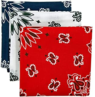 product image for Bandana 3-Pack - Made in USA For 70 Years - Sold by Vets – 100% Cotton –Sewn Edges