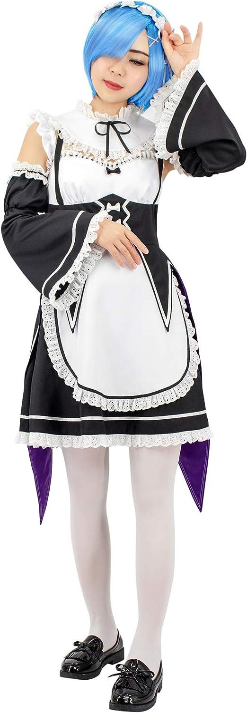 C-ZOFEK Re Zero Cosplay Costume Womens Lolita Kawaii Maid Dress