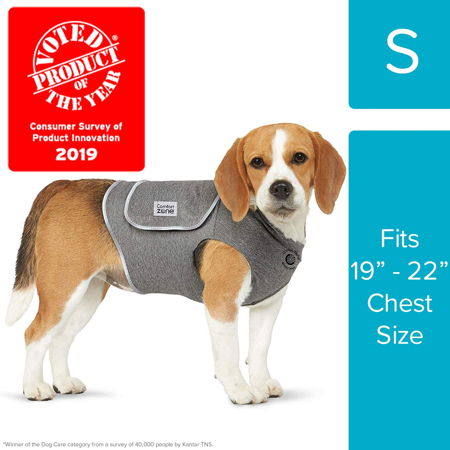 Comfort Zone Calming Vests for Dogs, for Thunder and Anxiety, Small (19-22'' Chest) by Comfort Zone