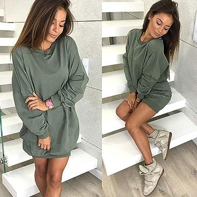 Women Hoodie Sweatshirt Casual O-Neck Loose Oversized Hoodie Dress Autumn Long Sleeve Hoodies Sweatshirts