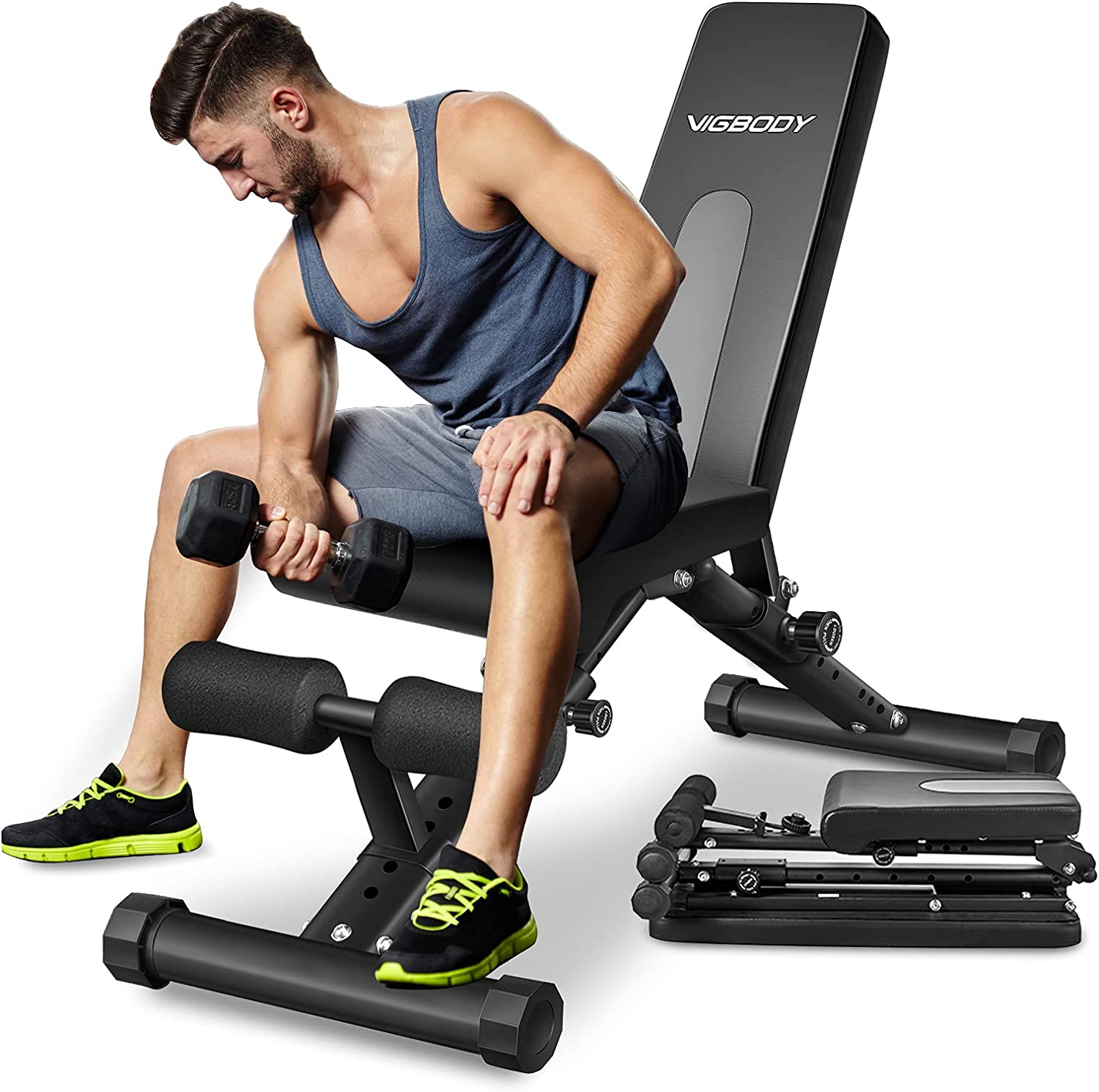 Adjustable Weight Bench Decline Incline Foldable Full Body Workout Gym Exercise