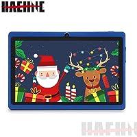 "Haehne 7"" Tablet PC, Android 9.0 Certificado por Google GMS, 1GB RAM 16GB ROM Quad Core, Cámaras Duales 2.0MP+0.3MP, Pantalla 1024*600 HD, WiFi, Bluetooth, Azul"