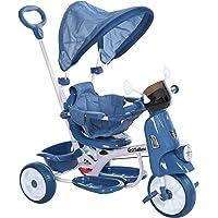 HOMCOM Triciclo Evolutivo Infantil Silla de Paseo Infantil con Función de Luz y Música Barra de Seguridad y Toldo…