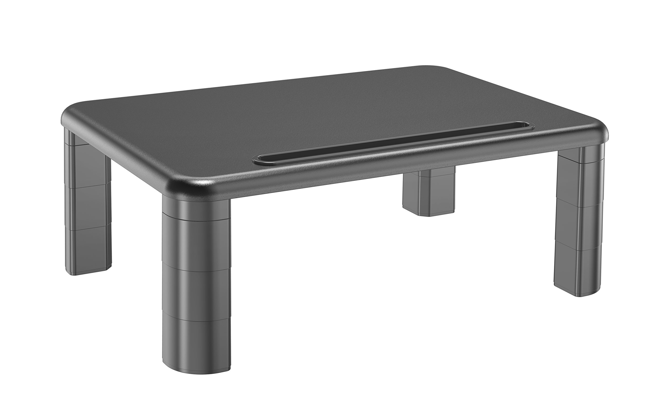 Innova - Adjustable Monitor Stand - Mini Desk, Height Range 2.7''-5.6'', Weight Capacity 22lbs (MS001)