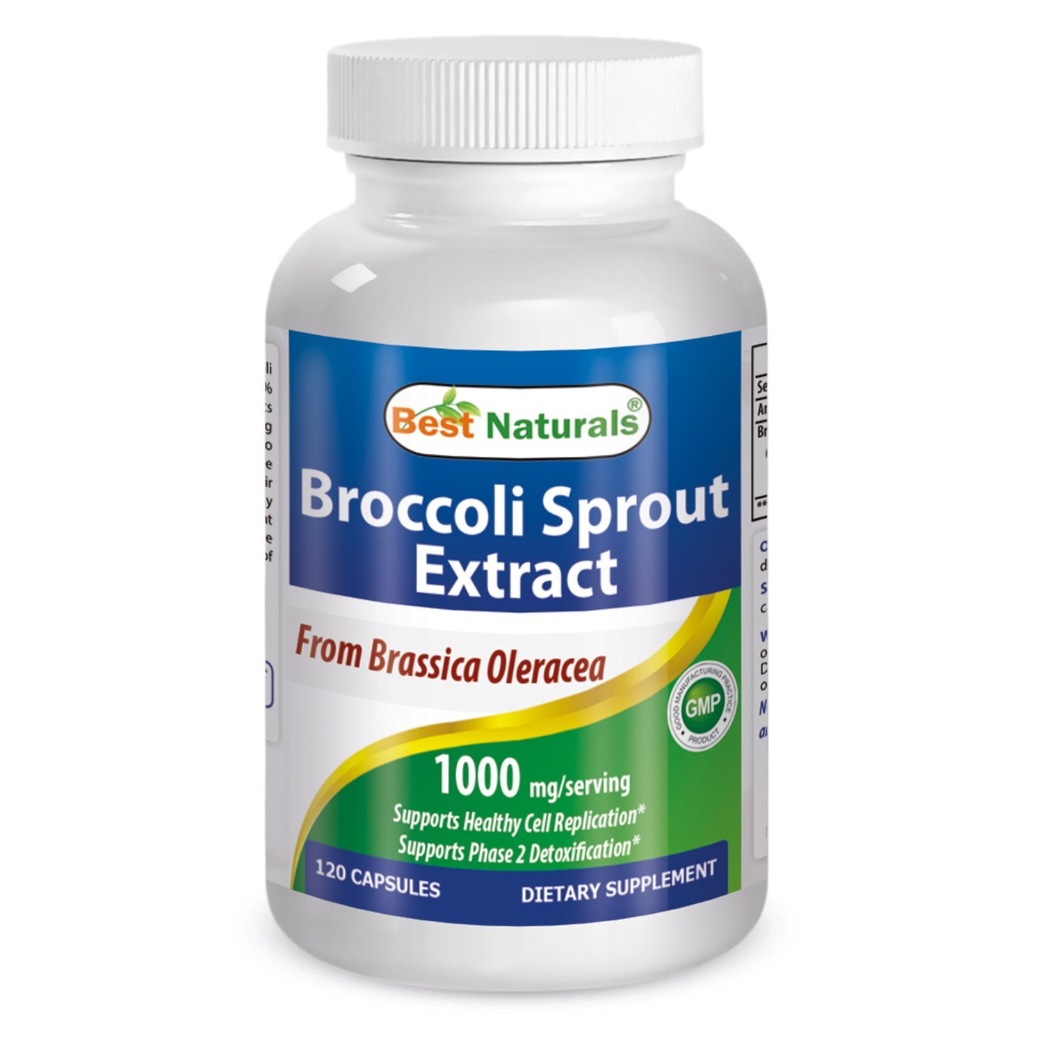 Broccoli Sprouts 1000 Mg Per Serving 120 Capsules by Best Naturals - Manufactured in a USA Based GMP Certified Facility and Third Party Tested for Purity. Guaranteed!! (2)