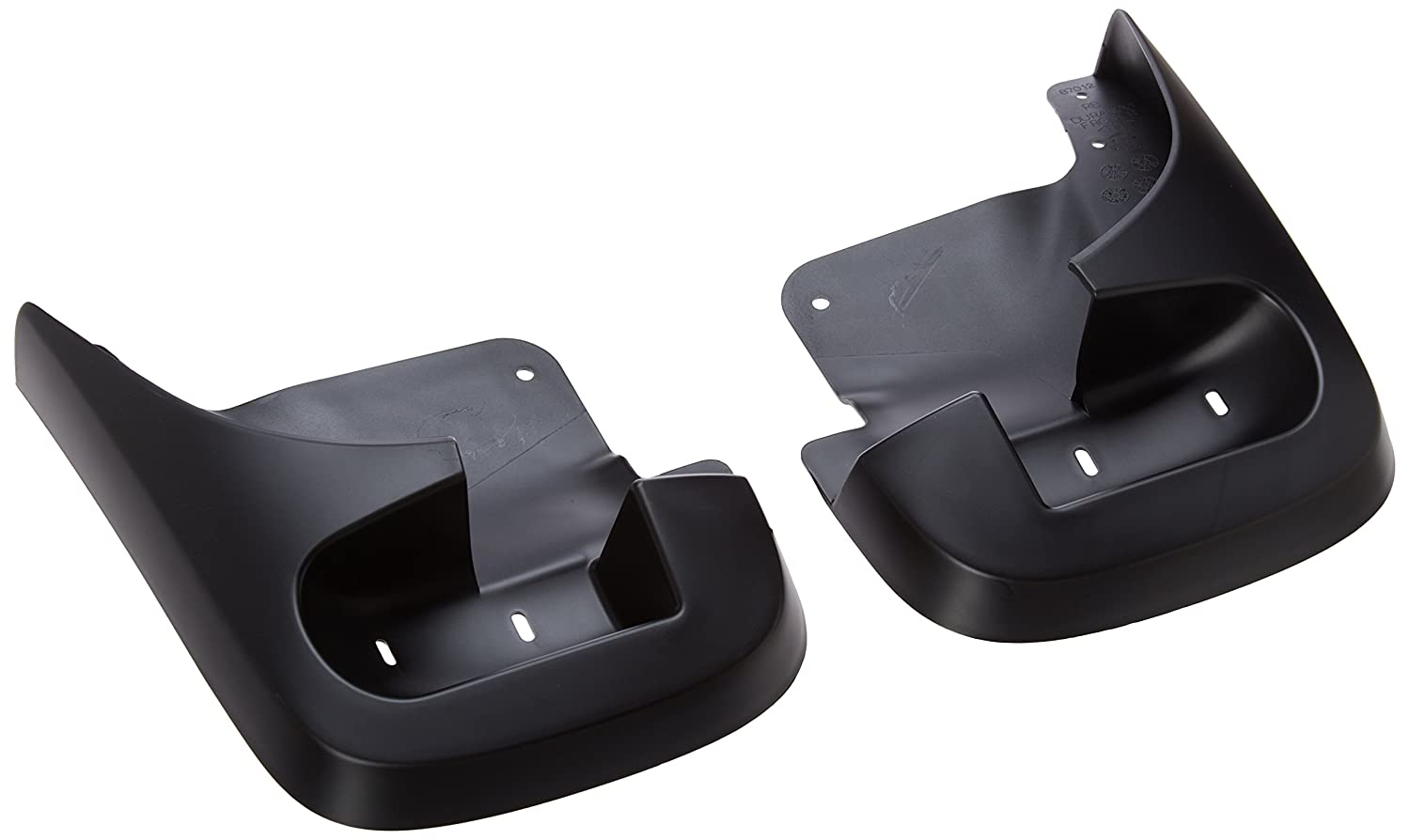 Black Molded Set of Two Front Mopar 82208514 Splash Guards 2 Pack