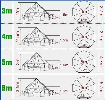 FANQIE Pirámide Ronda de Bell Tienda de campaña Tela de toldo ...