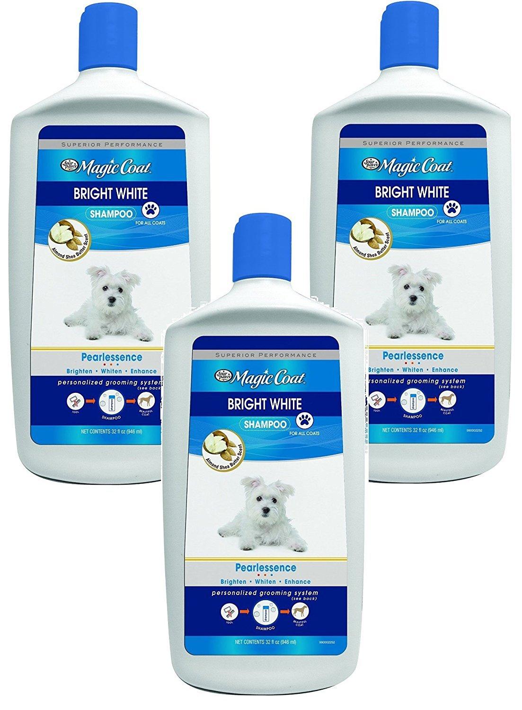(3 Pack) Four Paws Magic Coat Bright White Dog Shampoo, 32 oz Each
