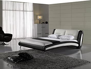 SAM Design Polster Bett 140x200 cm Swinger in schwarz/weiß ...