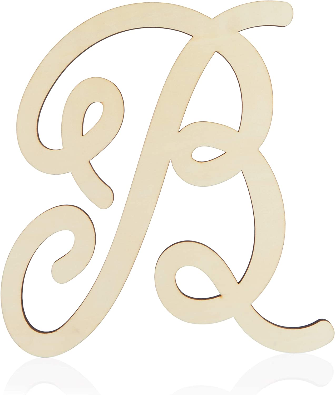 Wooden Monogram Alphabet Letters, Decorative Letter B (13 Inches)
