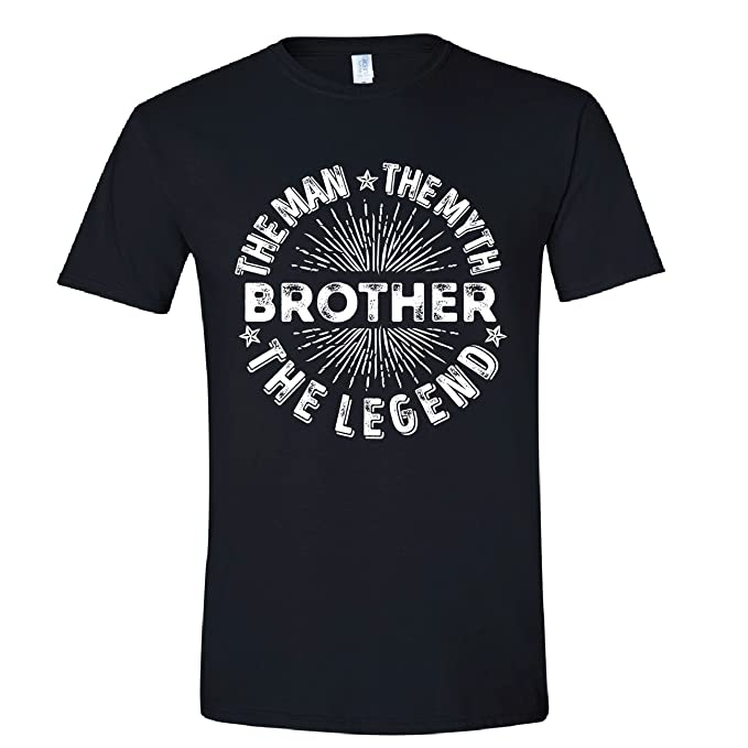 c785ac733 Image Unavailable. Image not available for. Color: Man Myth Legend Tee for  Brother, Funny Shirt for Brother, Mens Black Small Shirt