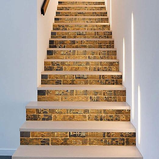 XUE Pegatinas para escaleras, 13 Piezas Sencillas Creativas 3D Papel ladrillo de Piedra reacondicionados Autoadhesivo de Pared Impermeable Art Deco Pared paño de Tela 18 x 100 cm Dormitorio casa sogg: Amazon.es: Hogar
