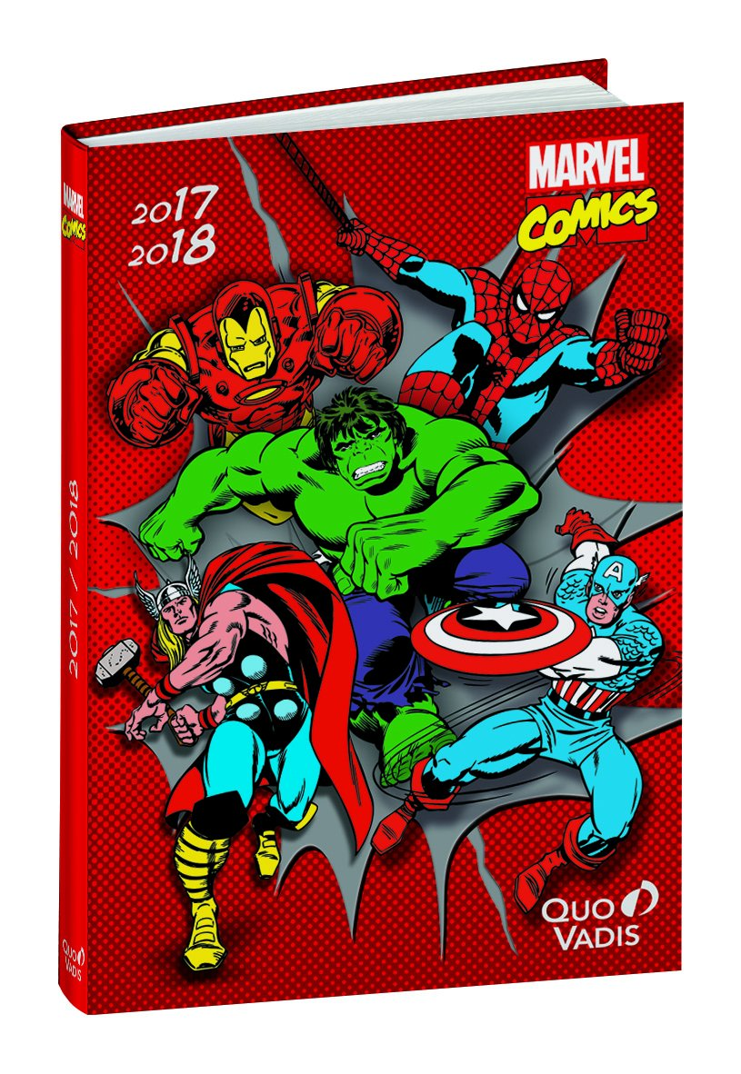 Quo Vadis-Agenda escolar, diseño MARVEL COMICS-visual ...