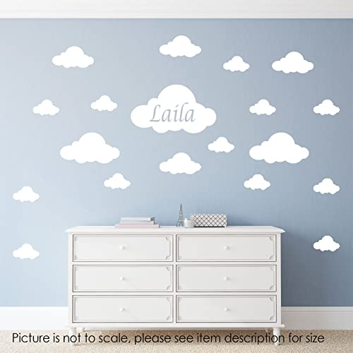 Cloud Wall Stickers Personalised name wall decal Nursery room wall ...