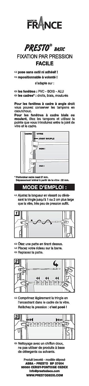 Presto Basic ausziehbare Gardinenstange mit Druckbefestigung, Metall ...